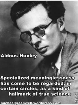 Aldous Huxley Meaninglessness