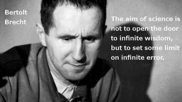 Brecht Science Quotes