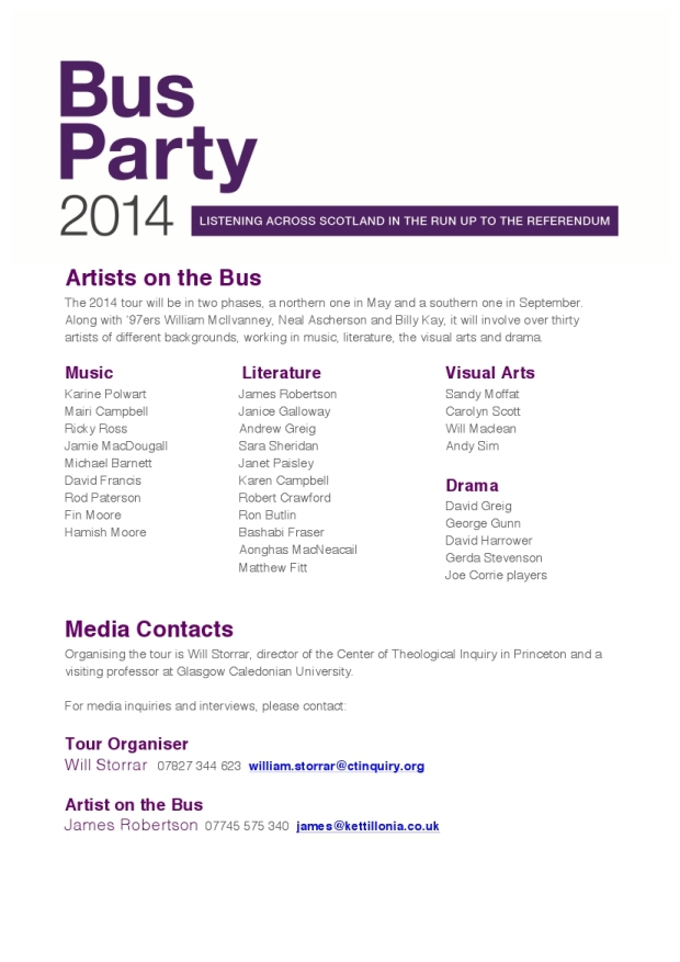 Bus Party Press Release 2