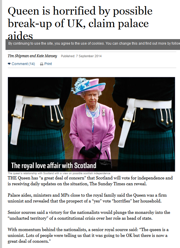 Queen Is A  Unionist