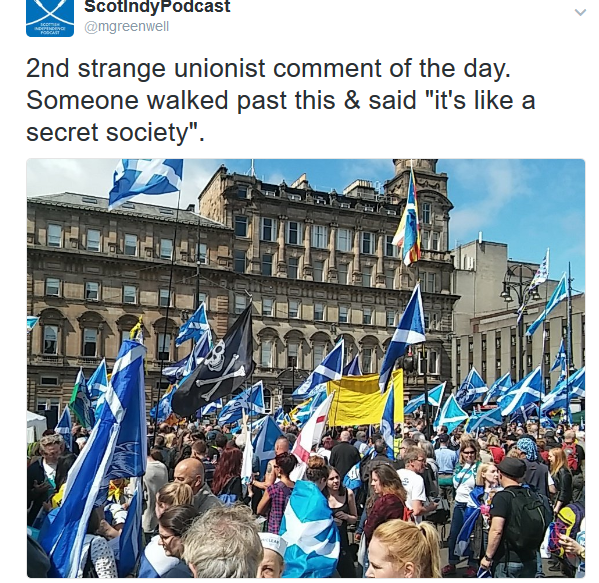 FireShot Screen Capture #364 - 'ScotIndyPodcast on Twitter_ _2nd strange unionist comment of the day_ Someone walked past this & said _it's like a secret society__ https___t_co_dpoYPF7GBf_' - twitter_com_mgreenwell_.png