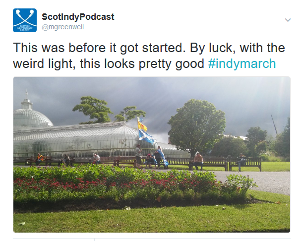 FireShot Screen Capture #365 - 'ScotIndyPodcast on Twitter_ _This was before it got started_ By luck, with the weird light, this looks pretty good #indymarch https___t_co_V5mZMjZUPO_' - twitter_com_mgreenwell_status.png